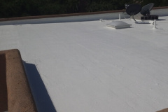 TPO roofing applied